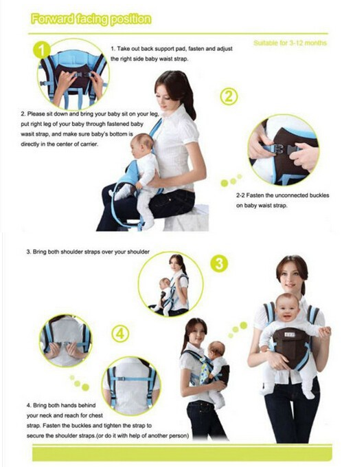 5a9ee03f2f9 Ergonomic Multi-Functional Baby Carrier Set Up Instructions